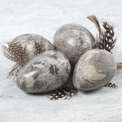 Marble-effect Eggs made from Clay and Idea Mix