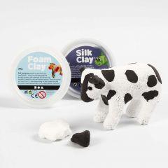 A Papier-mâché Cow with Foam Clay and Silk Clay