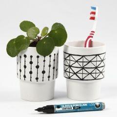 A white Mug with a graphic Design