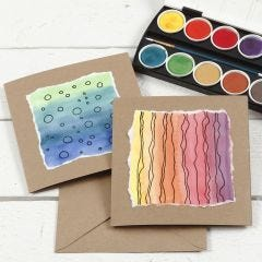 Greeting Cards decorated with a watercolour Design