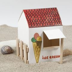 A self-assembled and decorated Ice Cream Stand