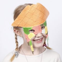 A Card Mask decorated with Markers