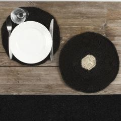 A Placemat crocheted from Natural Hemp