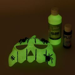 A Mask painted with luminescent Paint