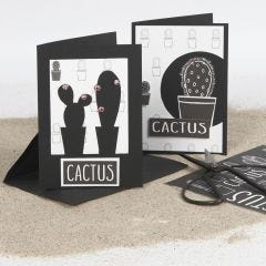 Greeting Cards decorated with a Cutting out and Design Paper