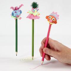 A Pencil with a Silk Clay Head