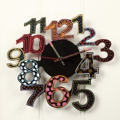 A Wall Clock decorated with Craft Paint