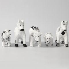 Papier-mâché Animals with graphic Designs