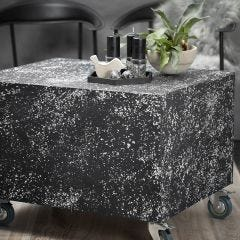 A Pallet Podium with a Terrazzo Look