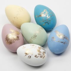 Easter Eggs decorated with Deco Foil on Glue Foil Designs