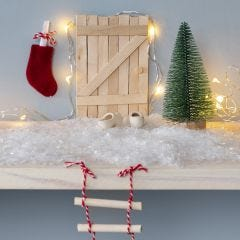 An Elf's Door from Ice Lolly Sticks with a Rope Ladder and a Christmas Stocking Letterbox