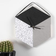 A Wall Clock made from a Tray and Faux Leather Paper