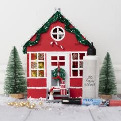 A bay window decorated like an Elf's front door