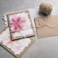 How to make handmade paper with a napkin design
