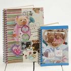 A Spiral Bound Notebook with Decoupage