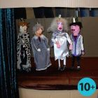 Marionette Puppets made from Strips of Wood and Gauze Bandage