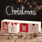 Decoupage on a Chest of Drawers for Advent Gifts