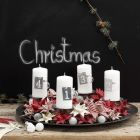 An Advent Wreath from woven Design Paper Stars