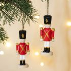 A wooden Nutcracker for hanging or as a Napkin Ring