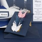 An Invitation with punched-out Butterflies and Deco Foil