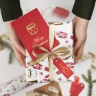 Christmas Gift Tags decorated with Deco Foil and Glue Foil Designs