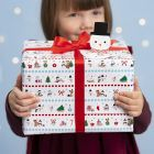 Christmas Gift Wrapping with Winter Wonderland Designs and a Pop-up Snowman Gift Tag