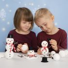 Build a Snowman from Polystyrene and Foam Clay