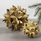 A large woven star made from 24paper star strips
