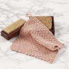A crocheted flannel using the basket weave crochet pattern