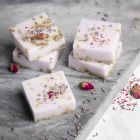 Homemade soap from shea with lavender