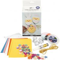Funny Easter Friends, card with decoration, 1 set