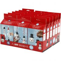 Cute and funny snowmen, 18 set/ 1 pack