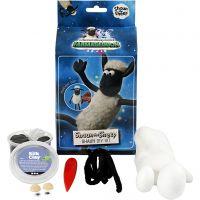 Shaun the Sheep, black, white, 1 set