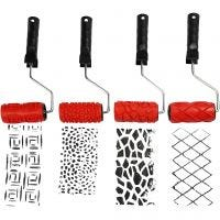 Pattern Rollers, W: 10 cm, 4 pc/ 1 pack