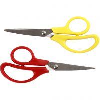 Kids Scissors, L: 12,5 cm, pointed, 12 pc/ 1 pack