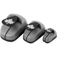 Craft Punch Set, maple leaf, size 25+49+75 mm, 3 pc/ 1 pack