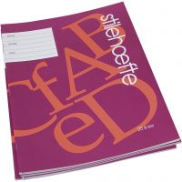 Exercise book with lined paper, A4, size 21x29,7 cm, 32 , 25 pc/ 1 pack
