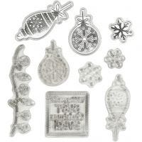 Clear stamps and cutting dies, Christmas, 1 pc