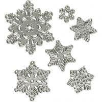 Die Cut, snowflake, D: 2-6 cm, 1 pc