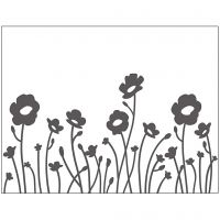 Embossing Folder, flowers, size 11x14 cm, thickness 2 mm, 1 pc
