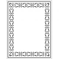 Embossing Folder, frame, size 11x14 cm, thickness 2 mm, 1 pc