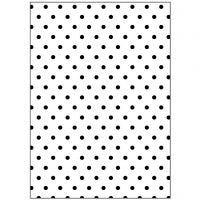 Embossing Folder, polka dot, size 13x18,5 cm, thickness 2 mm, 1 pc