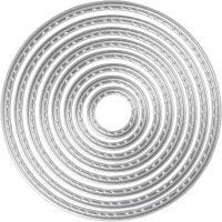 Die Cut and Embossing Folder, circle, D: 1,5-7 cm, 1 pc