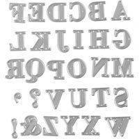 Die Cut, alphabet, size 2x1,5-2,5 cm, 1 pc