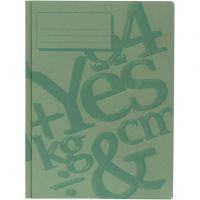 working folder, A4, green, 100 pc/ 1 pack
