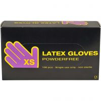 Latex Gloves, size x-small , 100 pc/ 1 pack
