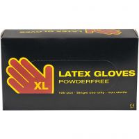 Latex Gloves, size x-large , 100 pc/ 1 pack
