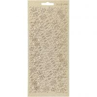 Stickers, snowflakes, 10x23 cm, gold, 1 sheet