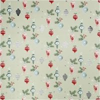 Gift wrap, Christmas ornaments, W: 70 cm, 80 g, 2 m/ 1 roll