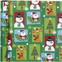 Gift wrap, square Christmas, W: 70 cm, 80 g, 4 m/ 1 roll